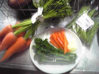 虫付き野菜