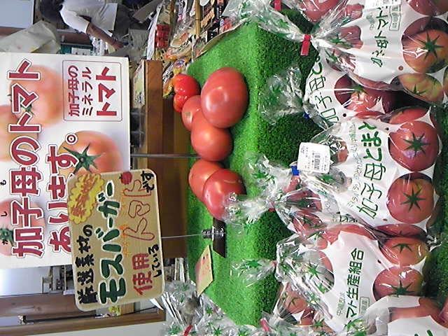 かしも手ぬぐい と トマト